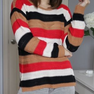 Lucca Couture Striped Sweater